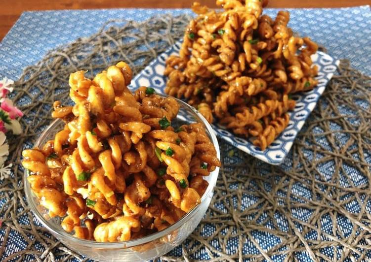 Easiest Way to Prepare Homemade 🧑🏽‍🍳🧑🏼‍🍳 Pasta Crackers Recipe • Crispy Pasta Snack• Thai Flavour • Krob Kem |ThaiChef food