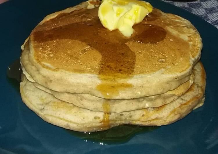 Leckere Pancakes mit Banane