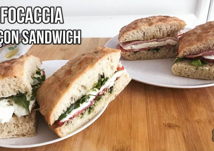Comment Préparer Les FOCACCIA, en Sandwich VEGGIE ou CARNÉ