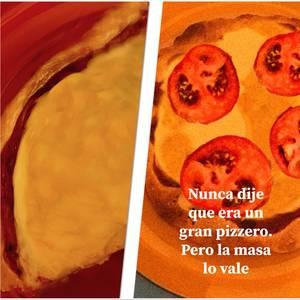 Mi masa para pizza y mi pizza también