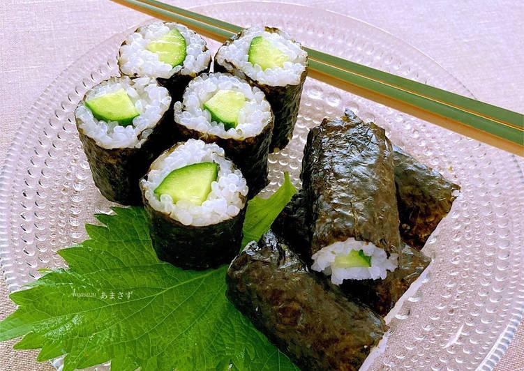 """Ricetta Sushi con cetriolo """"Kappa-maki"""""""
