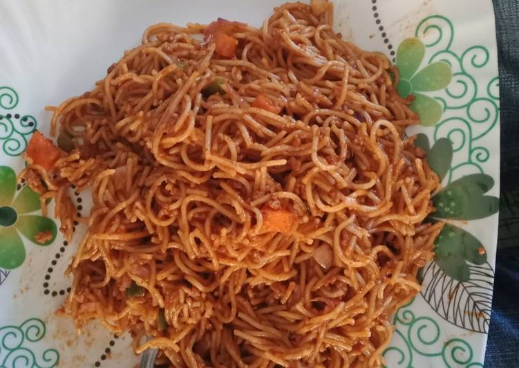 Spicy Mince meat pasta