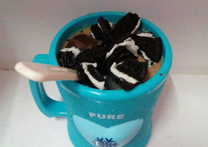 Oreo milky mocha drink