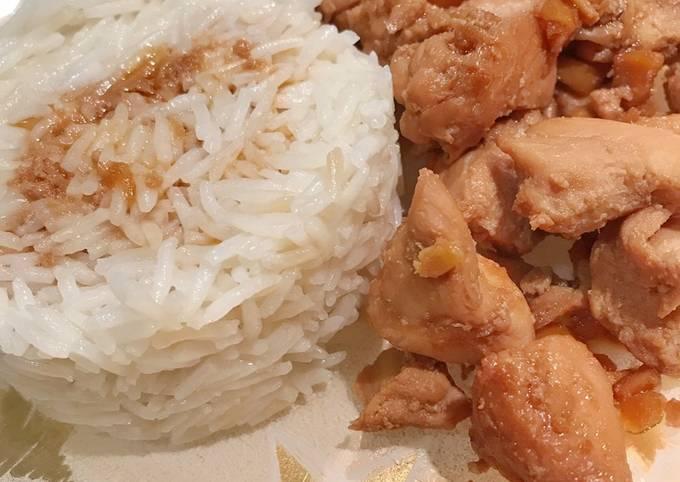 Pollo allo zenzero e riso