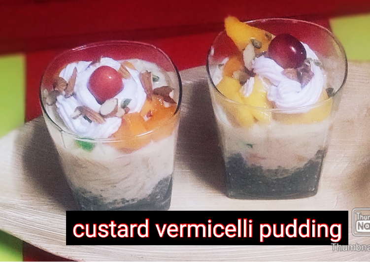 Recipe of Any-night-of-the-week Custard Vermicelli Pudding