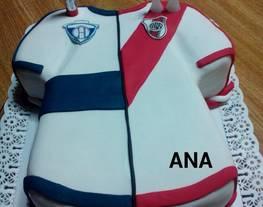 Torta camiseta de fútbol doble