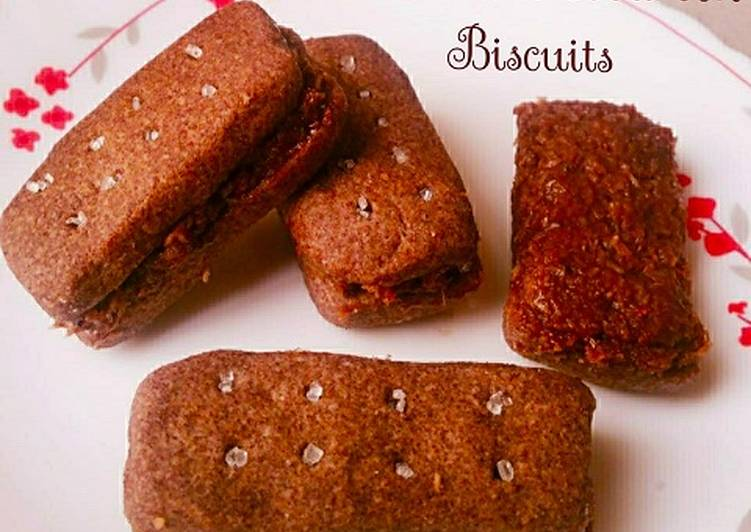 Homemade Bourbon Biscuits FingerMillet – Eggless and Vegan