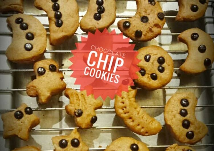 Chocolate Chip Cookies (no oven, no mixer)