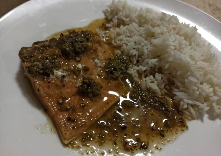Salmon with Capers, Lime and Maple Syrup
