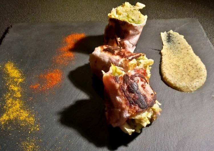 Le maki de chou frisé au bacon