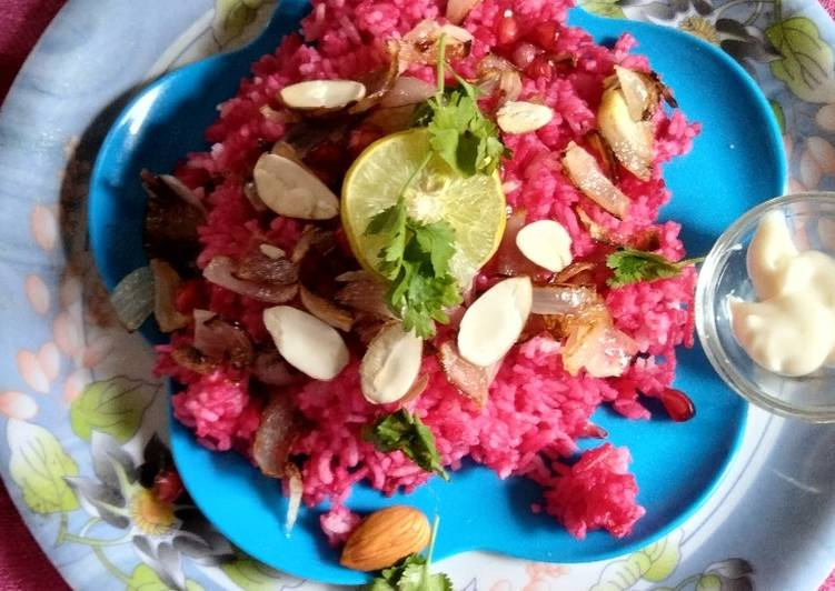 Recipe of Speedy Beet root pullao/rice