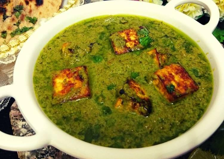 Nawabi paneer with coriander coconut gravy
