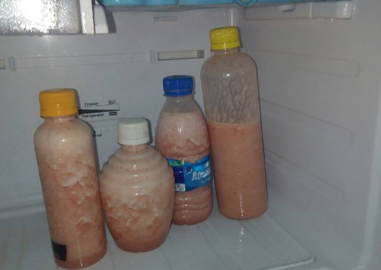Pineapple and Water Melon smoothie