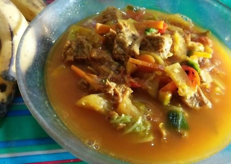 Tongseng kambing sayur