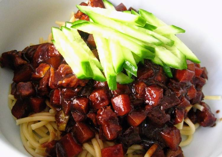 New Secret Jjajang Myun 짜장면 (Chinese-Korean Black Bean Noodles) Sauce Free Download