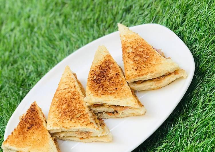 Easiest Way to Make Quick Grilled sardine sandwich
