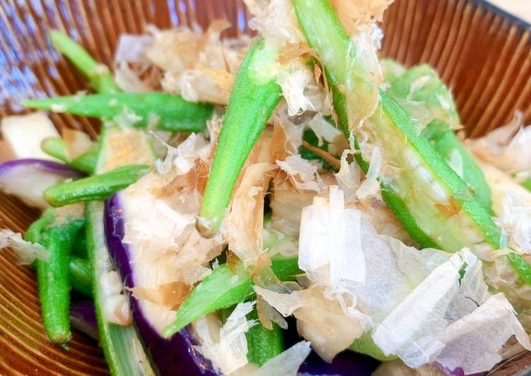 Recipe of Homemade Simmered Eggplant and Okra