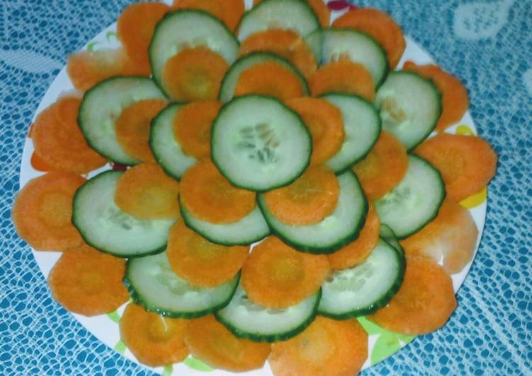 Easy carrot and cucumber salad
