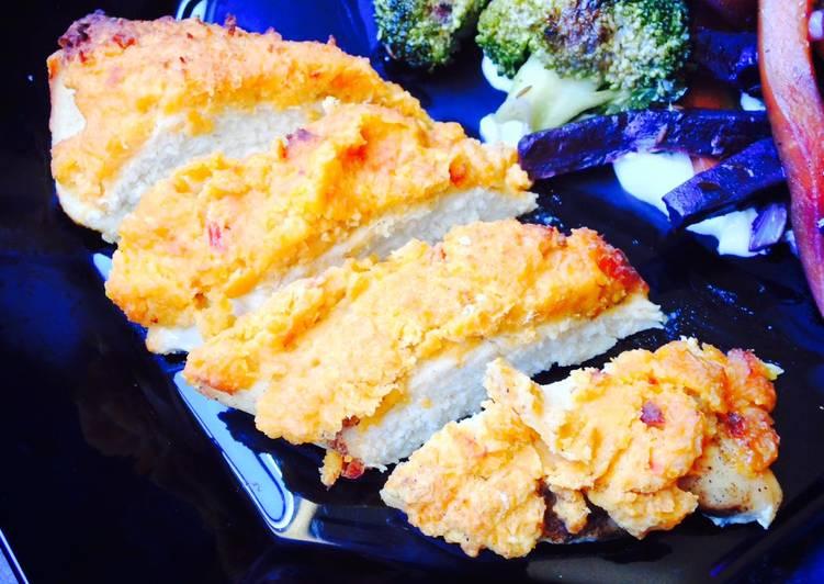 Recipe: Good Hummus Crusted Chicken