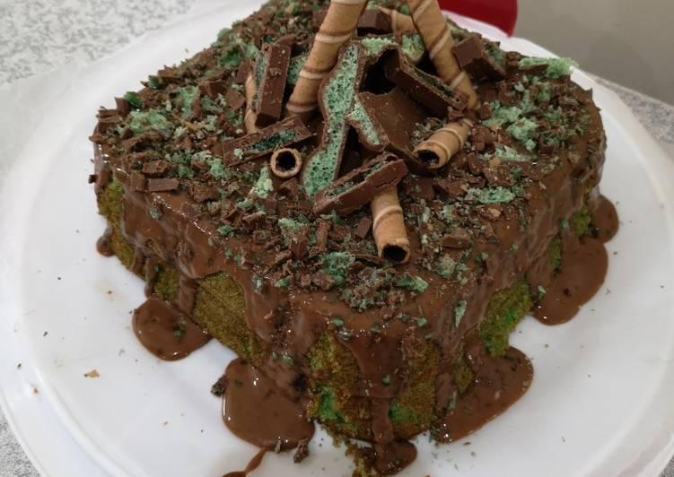 Mint Sponge Cake #sahdessert