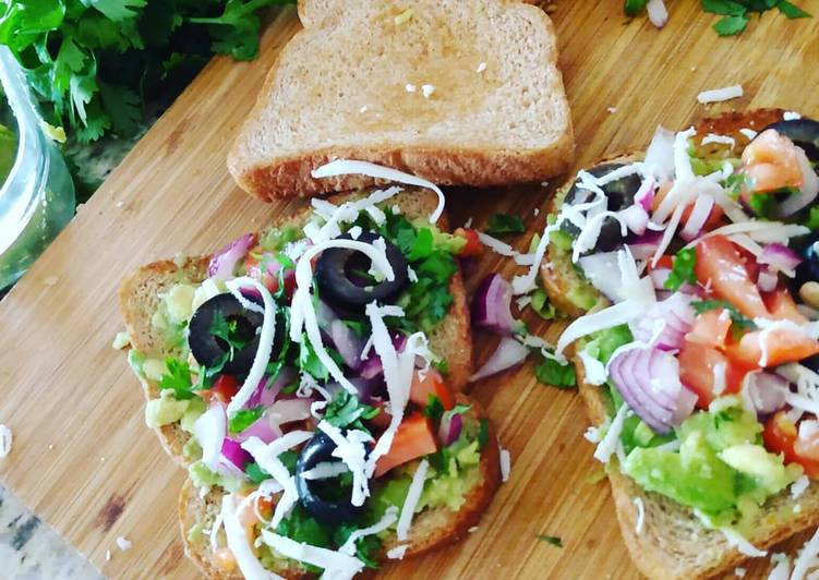 Recipe: Appetizing Avocado Veggie Toast/  Sandwich