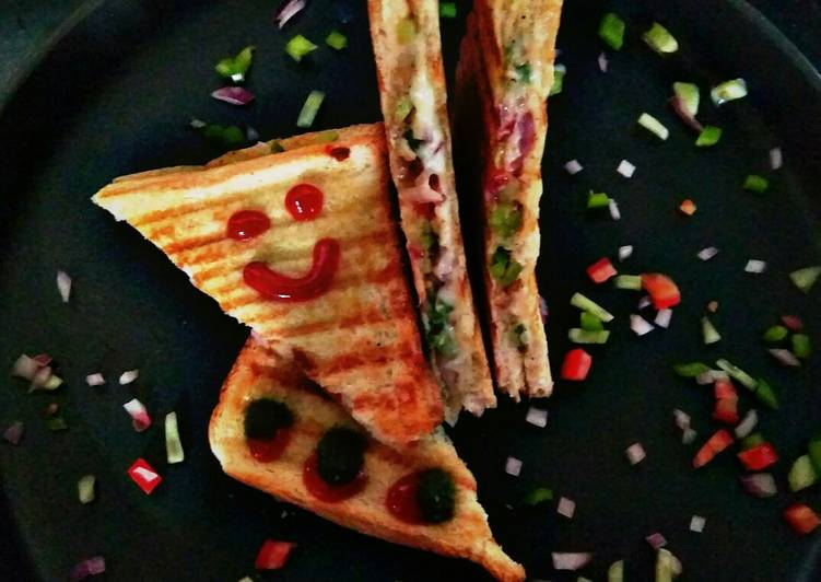 Vegetable cheese grill sandwich