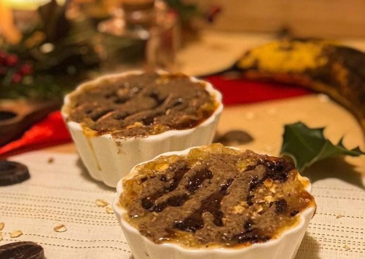 Recette Savoureux Porridge au four chocolat banane