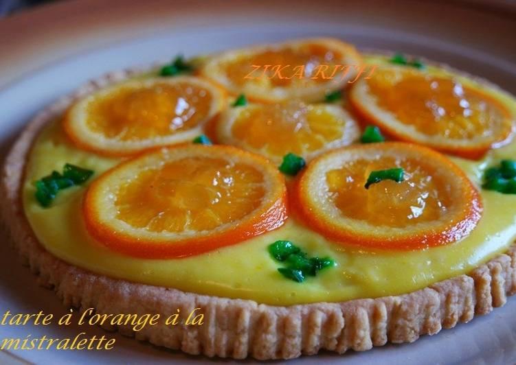 Tarte a l'orange a la mistralette