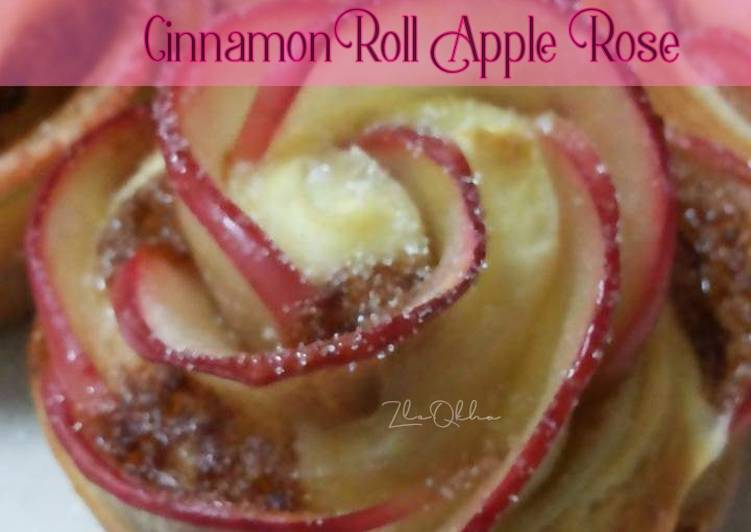 Cinnamon Roll Apple Rose