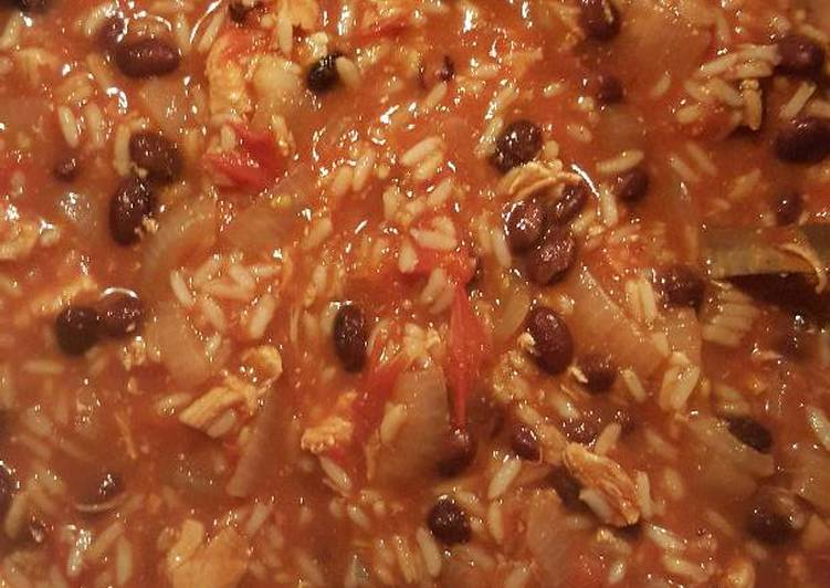 Chicken and rice chili soup