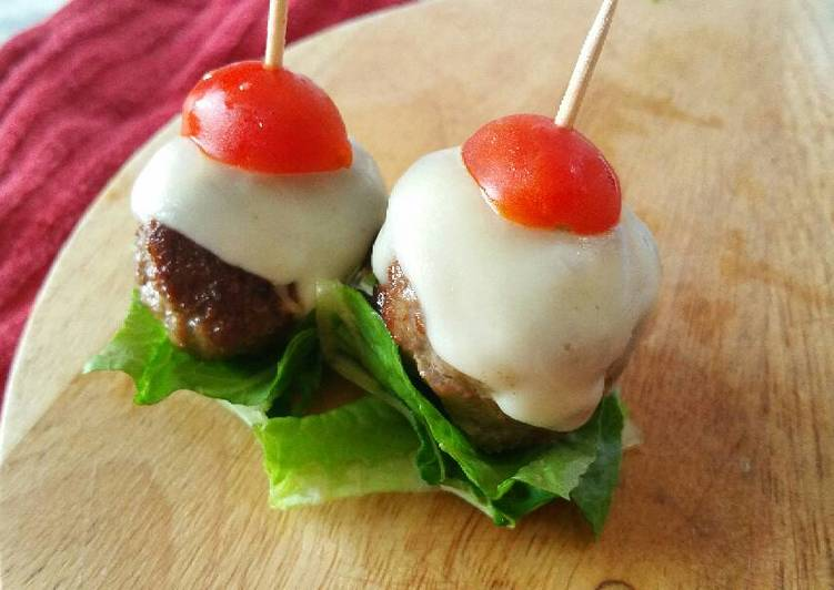 Low Carb Cheesy Ranch Burger Bites