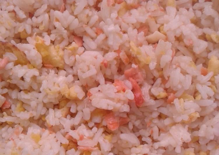 Nasi Goreng Ikan Salmon + keju