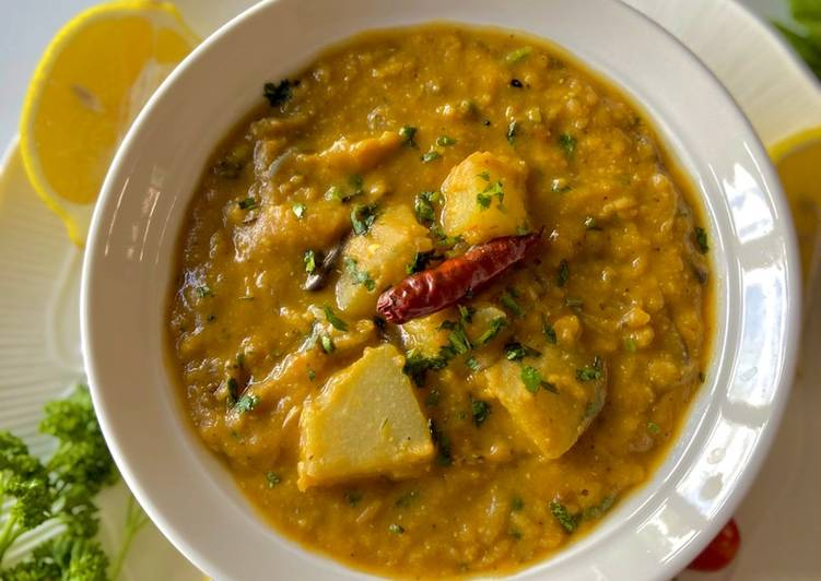 Chayote with Red Lentils  #mycookbook
