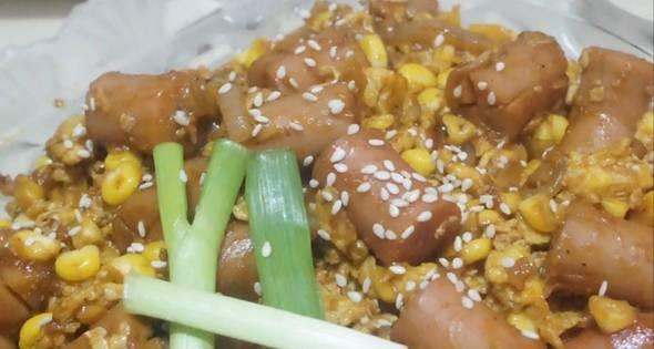 Resep Sosis Jagung Manis Dengan Telur Orak Arik Saus Barbeque 3 Piring Sehari