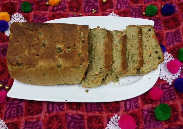 Recipe of Homemade Wholewheat Vegetable Loaf