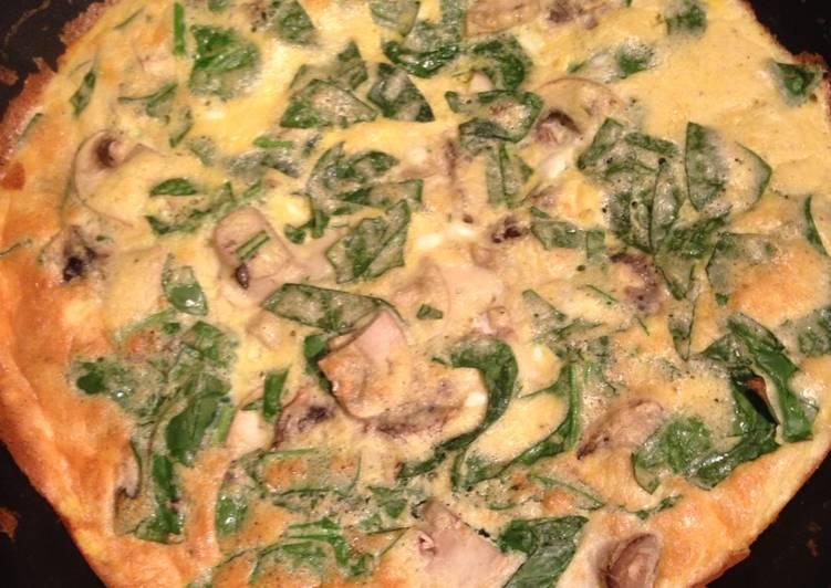 Easiest Way to Prepare Tasty Spinach & Mushroom Omelette
