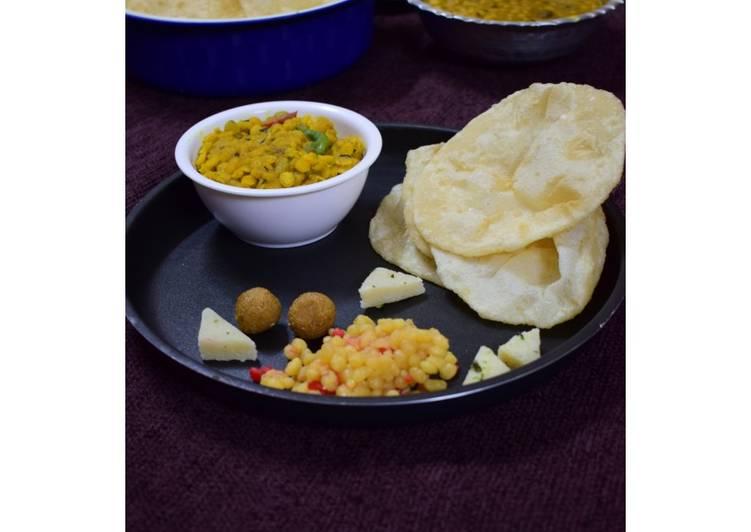 Luchi cholar dal(Bengal gram dal and puri)