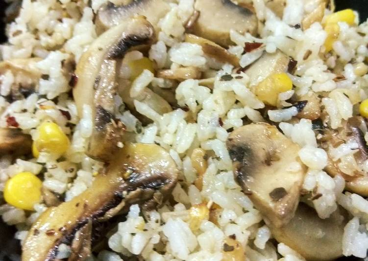 Recipe of Favorite Italian style mushroom fried rice