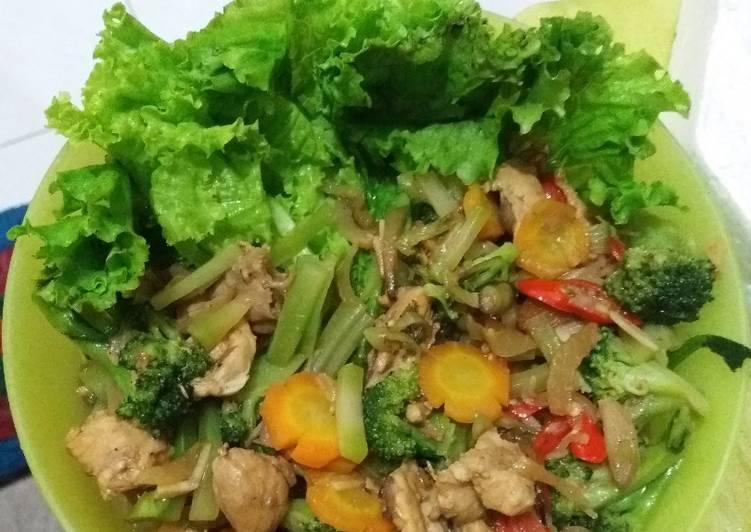 Resep Diet mayo lunch day 5 tumis ayam brokoli