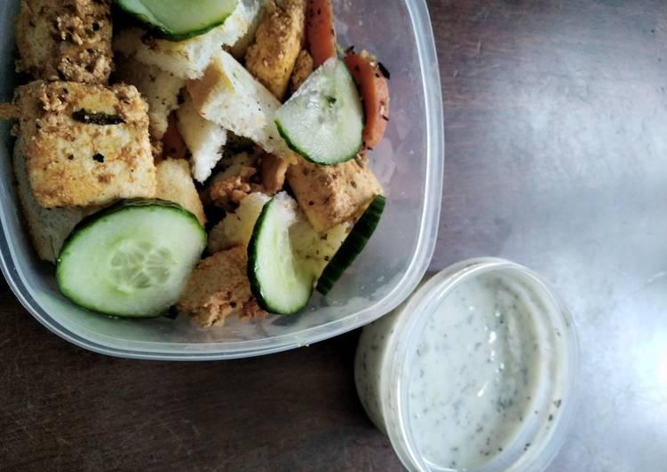 Top 100 Dinner Easy Fall Greek-inspired salad bowl with paneer souvlaki