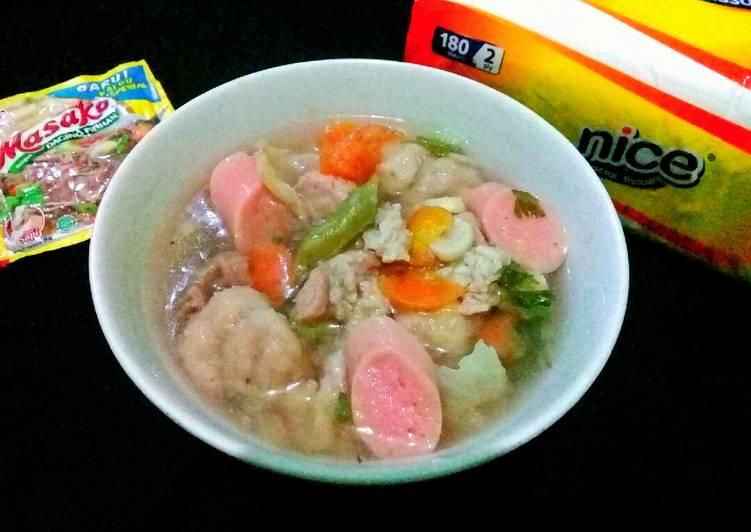 Sup Daging Bakso Sosis #217