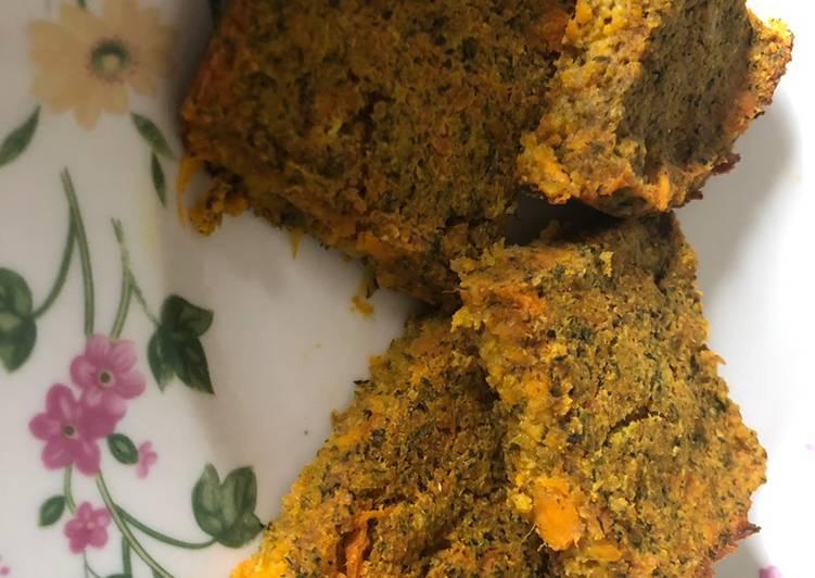 Bake sweet potato kibeh