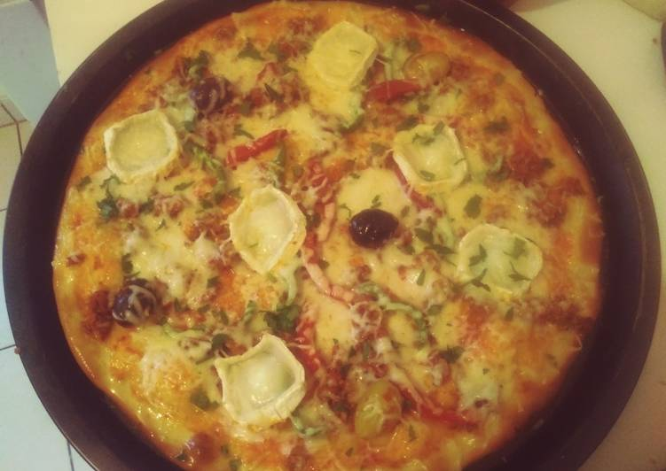 Pizza thon,chèvre