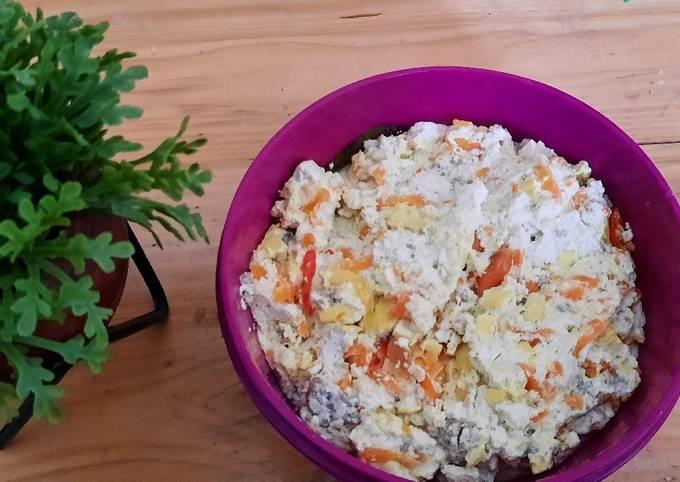 Kukus bola daging tahu sayur (masakan sehat dan diet)