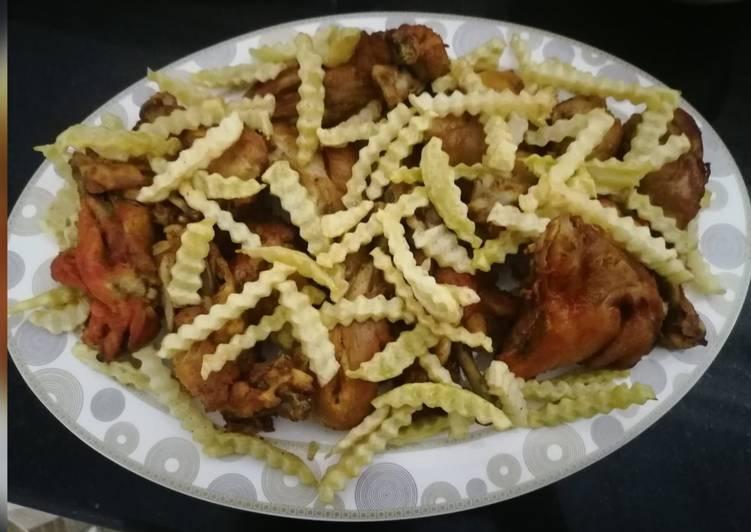 Chicken tandoori with few spices😍😋