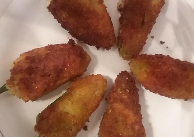 Mayo chicken filled chili 🌶#iftar with huma #cookpadApp