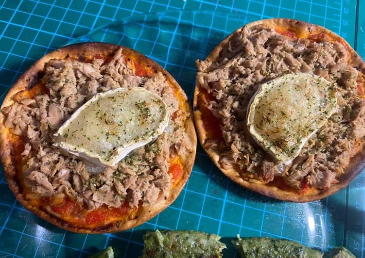 Obleas rápidas y fáciles de atún/tomate y queso de Cabra