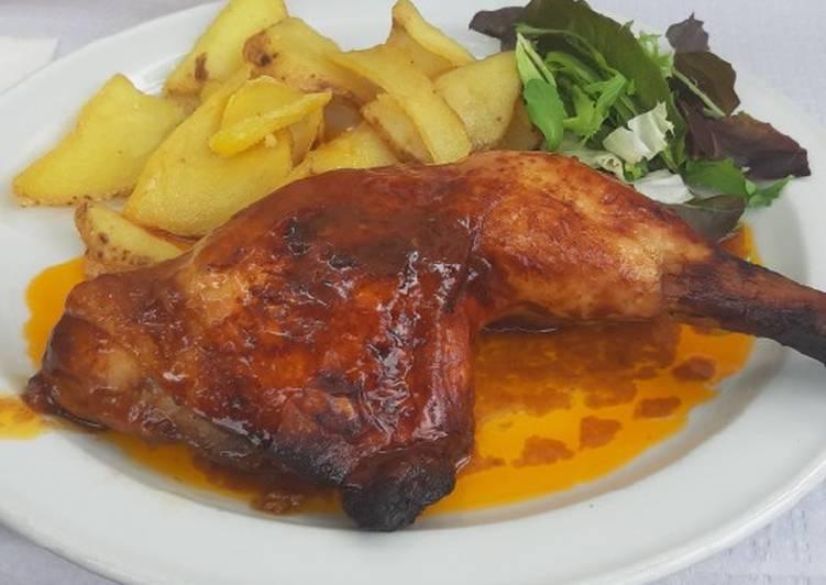 Receta: Delicioso Pollo al horno con salsa barbacoa