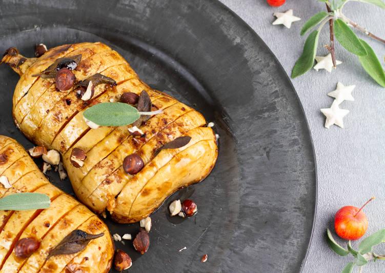 Comment Préparer Des Butternut rôtie aux épices douces façon Hasselback