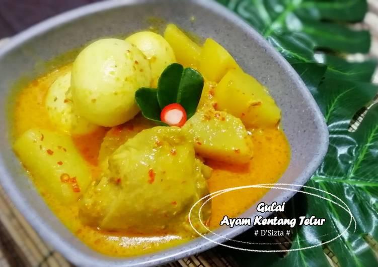 Resep Gulai Ayam Kentang Telur 👍, Lezat